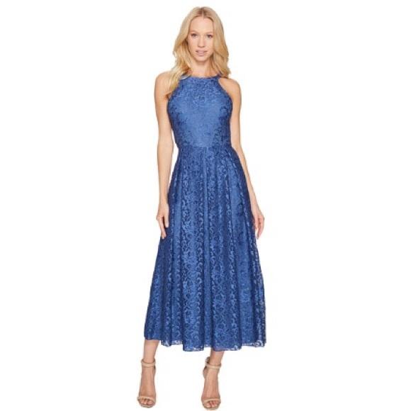 3e121740a9b7 Blue Lace Midi   Maxi Dress